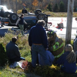 Driver, jogger injured in Amherst accident