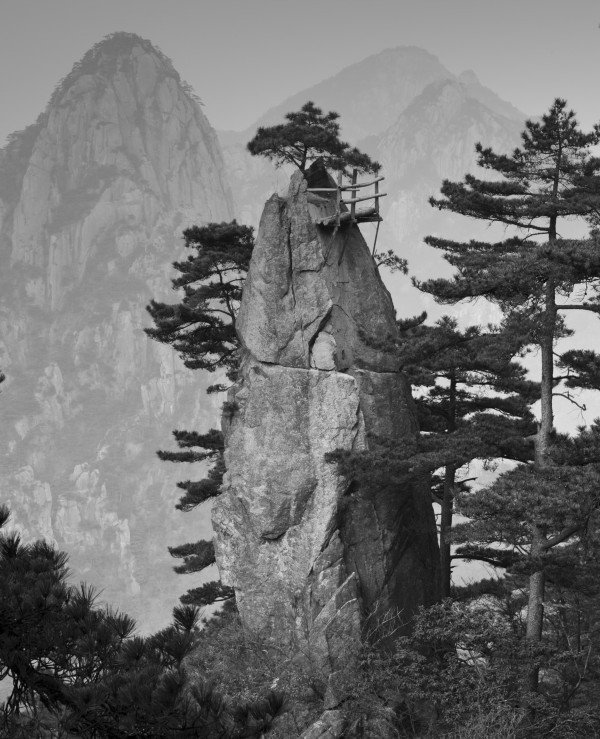 Huangshan in China served as inspiration for Lydia Goetze's art.