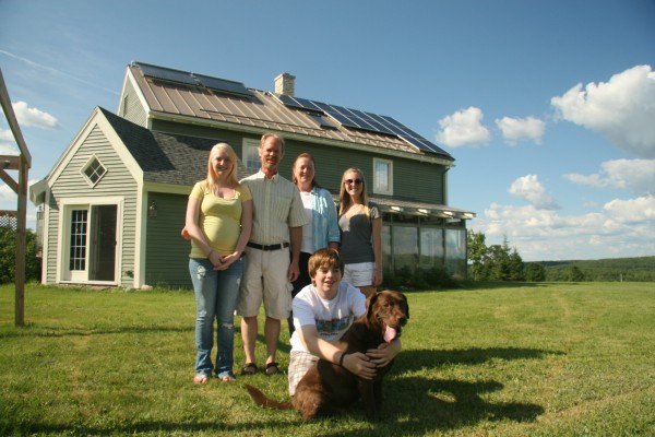 The Mayberry family has turned off their oil boiler and generate clean electricity since installing two solar energy systems on their home in Unity. Their home is part of the Green Building Open House Tour happening this Saturday, October 13.
