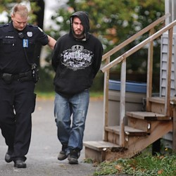 Police watching Bangor Efficiency Apartments for possible drug activity arrest man with drugs