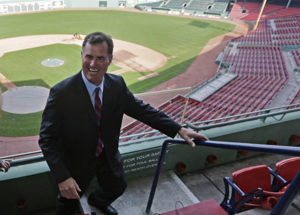 Boston Red Sox new manager John Farrell smiles as he walks through the stands at Fenway Park in Boston, Tuesday, Oct. 23, 2012.  Farrell becomes the 46th manager in the club's 112-year history.