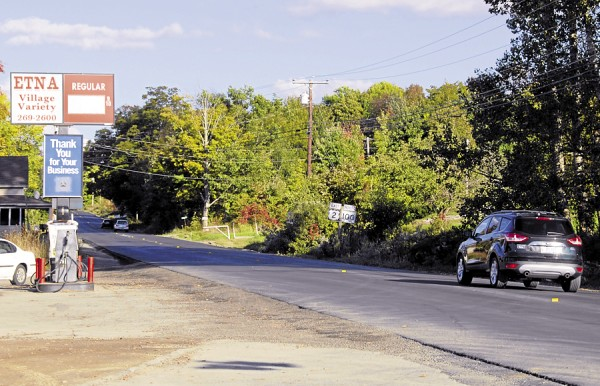 As the Maine Department of Transportation wraps up an extensive road-paving project along Route 2 in Carmel and Etna, motorists head east past Etna Village Variety in late September.