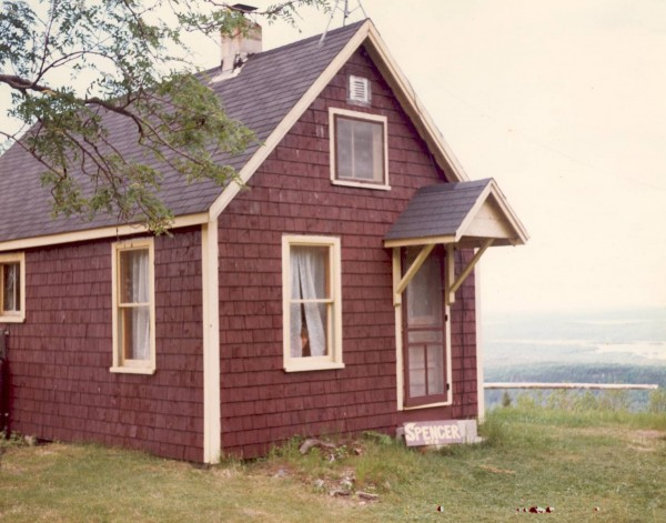 The fire lookout's cabin, located in a small clearing about a mile from the trail head to Big Spencer Mountain, houses the fire &quotlookout&quot or &quotwatchman&quot John Boydston during summer 1980.