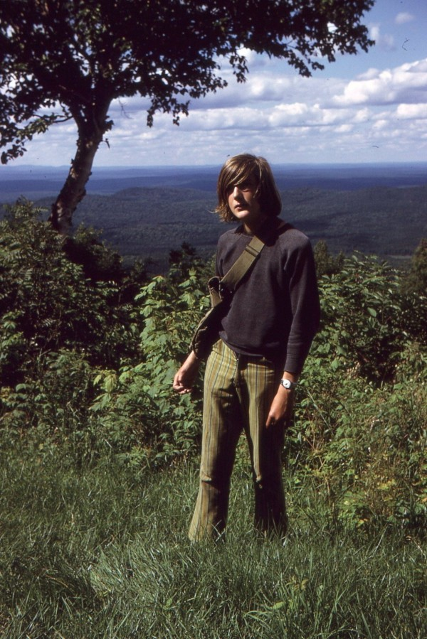 Bill Spach, then of Scotch Plains, N.J., hikes Big Spencer Mountain near Kokajdo, Maine, with his father during the summer of 1972, when the fire tower lookout was still operational at the mountain's summit.