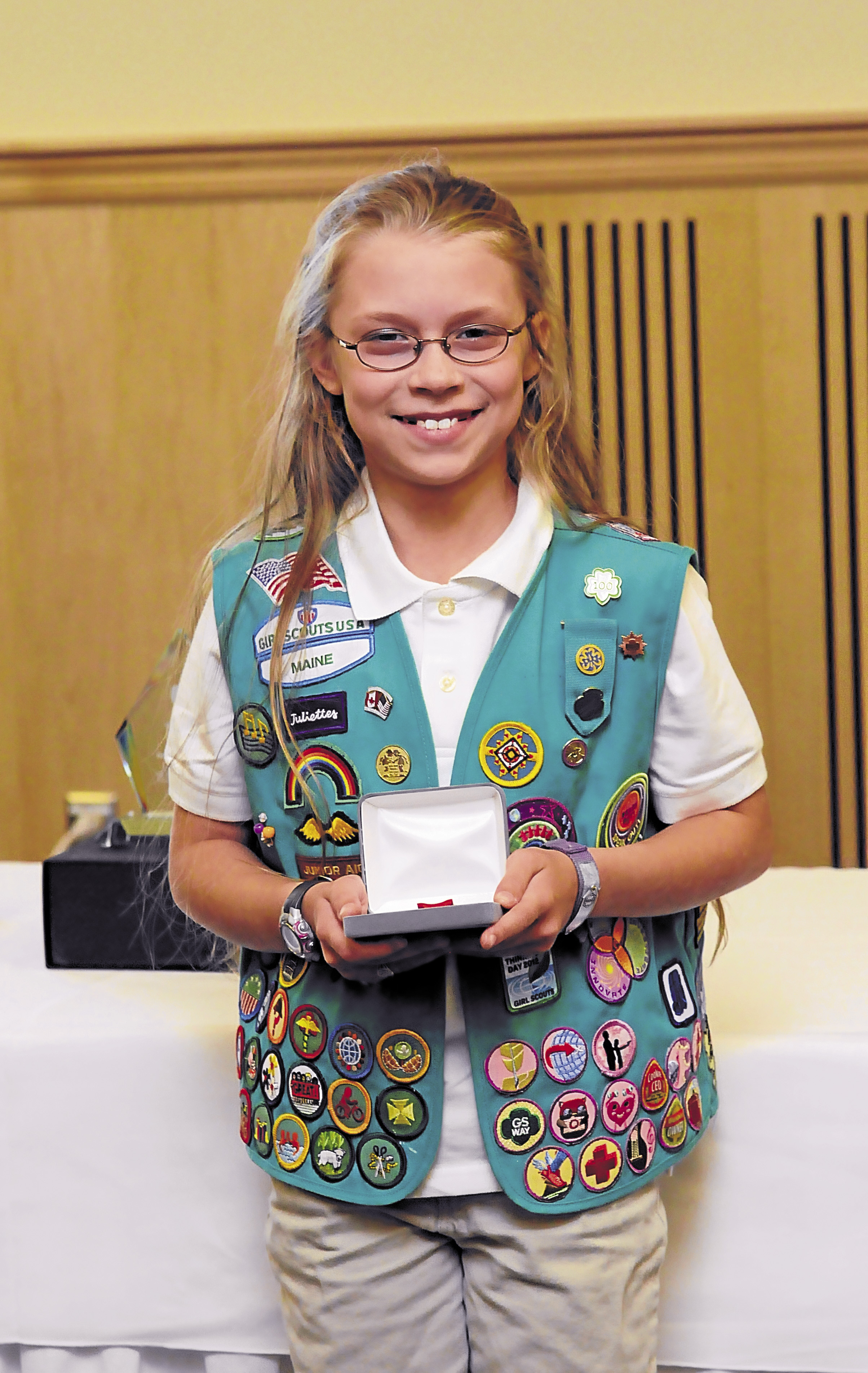 Ten-year-old Samantha Moore from Milbridge was the recipient of the Girl Scout Medal of Honor for her lifesaving skills.