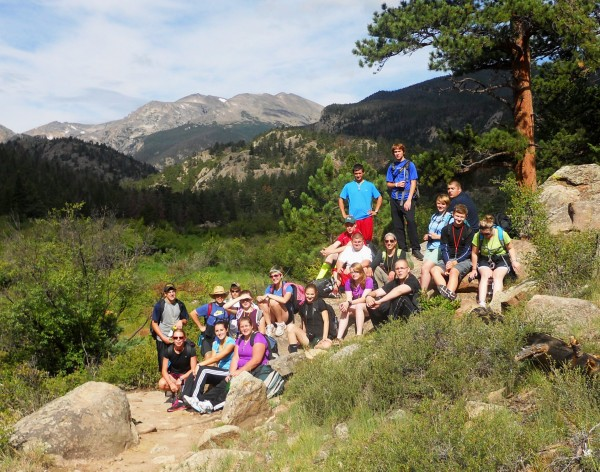 10th Grade Trekkers pause during a hike in the Colorado Rockies last August. Trekkers will provide expeditionary learning programs to more than 180 students in grades 7 through 12 in the coming year.