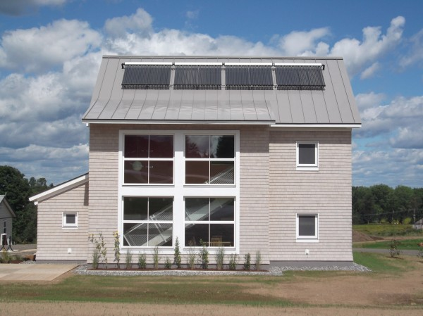 A net-zero dorm at Unity College effectively uses the sun's energy to keep students warm in the winter and to heat their hot water supply. Visitors can tour this building this Saturday, October 13.
