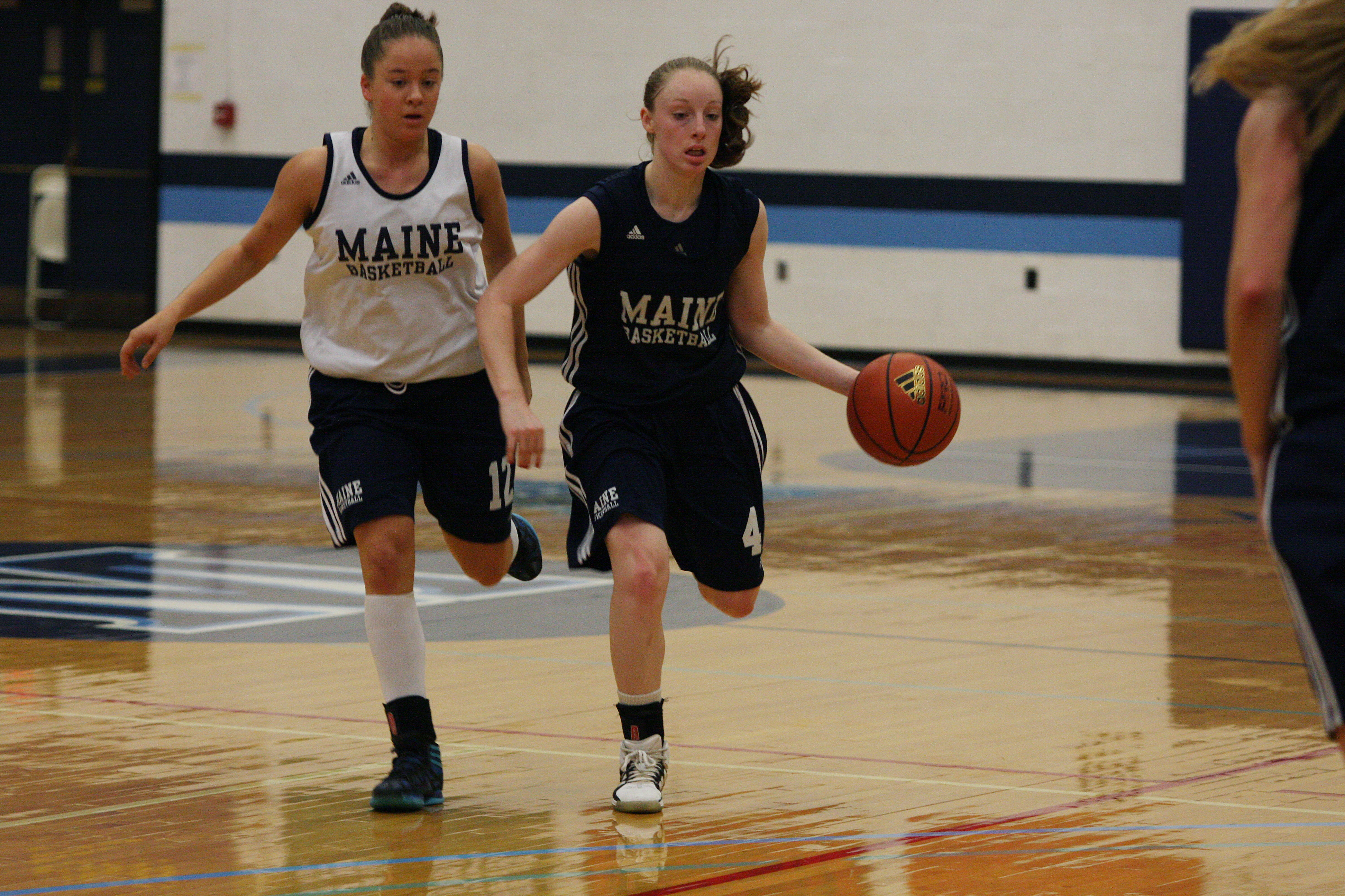 UMaine women's basketball team showcases improved veterans, promising rookies during Blue-White scrimmage