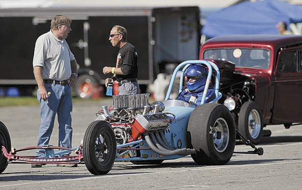 A dragster awaits the start of October competition at the Winterport Dragway, which has scheduled its Fall Car Show, Drag Race and Swap Meet for Saturday, Oct. 13.