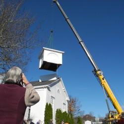 Wiscasset church gets steeple replaced