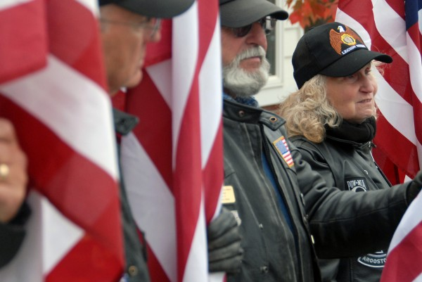 Several veterans groups from around the state attended the funeral of U.S. Army Special Forces Sgt. 1st Class Aaron Henderson at Houlton High School and in Hodgdon on Wednesday, Oct. 10, 2012.