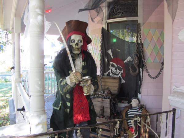 These ghoulish pirates will greet visitors to Brian and Tiare Messing's home in Rockland.