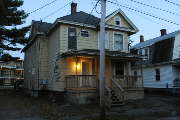 The apartment building at 27 Webster Ave. in Bangor where several people were arrested on Monday, October 8, 2012.