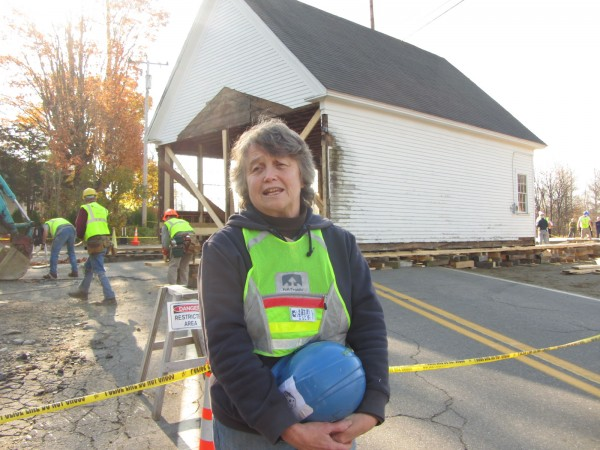Diane O'Brien describes the move of the Lincolnville Center School.