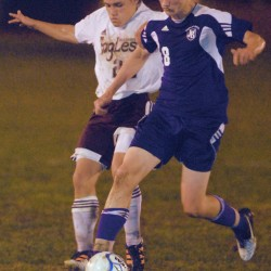 Ellsworth's Jack Weeks scores 3 goals in victory over John Bapst boys soccer team