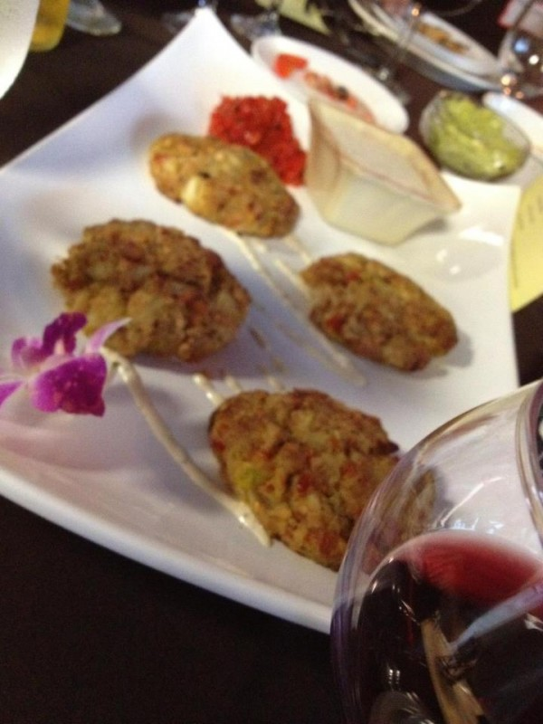 Crab cakes, one of the many dishes on the menu at new Bangor eatery 11 Central, which opened downtown in late October.