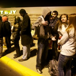 Hordes flock - and wait - for Black Friday sales