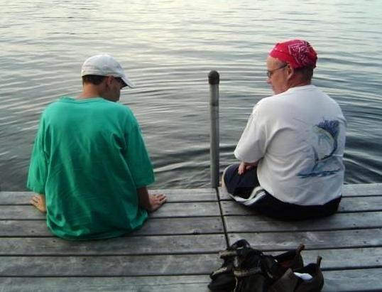 Ben, who has autism, and his dad enjoy a day at a lake.