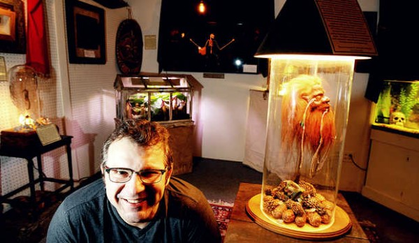 Tony Sohns, co-owner of The Rock & Art Shop, has such things on display as a shrunken head, the largest bat on Earth and a live electric eel at The Natural History Freak Show inside his Bangor shop.