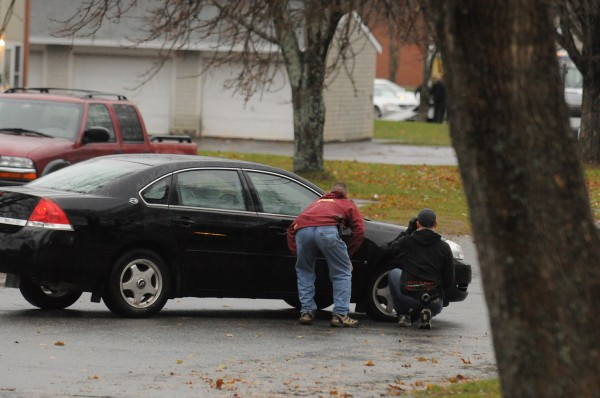 Bangor police and the department's Special Response Tactical Team respond Tuesday afternoon, Nov. 13, 2012, to a domestic incident that possibly involved a man with a gun at 49 Bolling Drive.