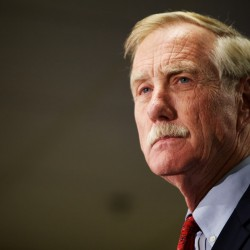 Angus King nervous but not intimidated as he starts meeting senators