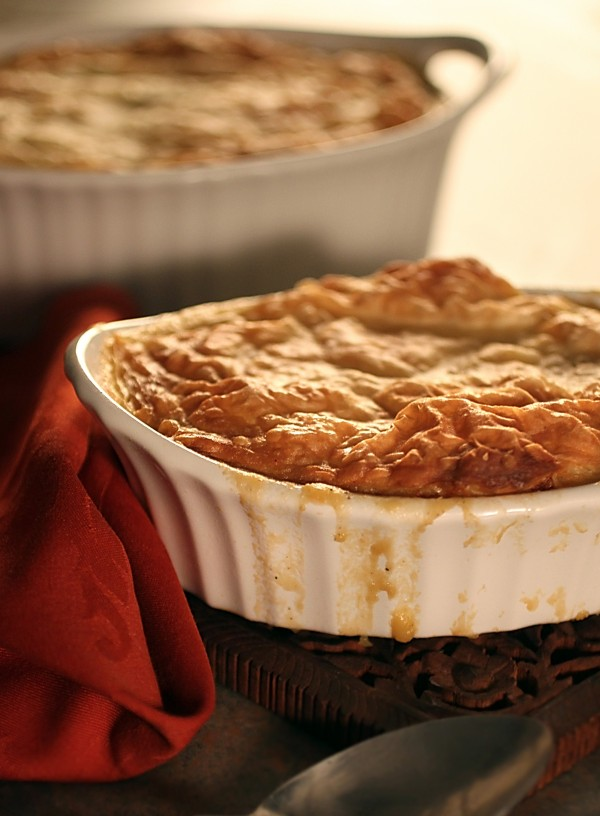 Historically pies were savory before sweet and there is no limit to what can be tucked inside a crust in a pot pie.