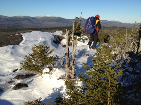 Neil LeBlanc of Swanville hikes through snow on Barren Mountain in Maine to complete the Appalachian Trail with his fiance Holly Todd during the fall of 2012.