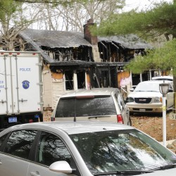 Wood stove cause of fire that leveled Clinton mobile home