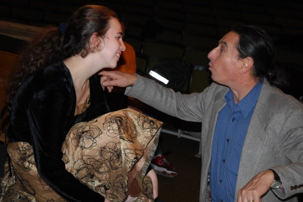 Director Doug Clapp spends a few moments with actress Theresa Ouellette discussing her role in the upcoming &quotNutcracker the Musical.&quot