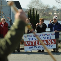 Parade to Bangor stirs pride, remembrance
