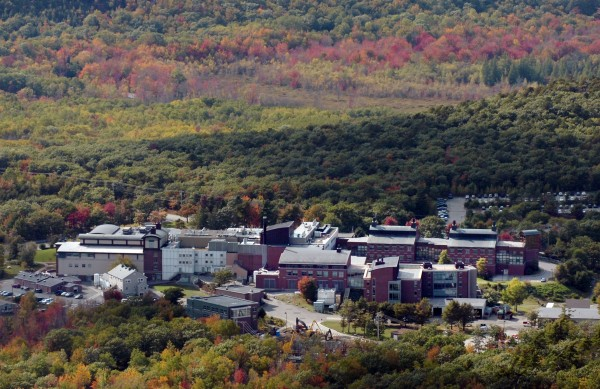 The Jackson Laboratory on Mount Desert Island is seen in an aerial photo taken Monday, Oct. 5, 2009.