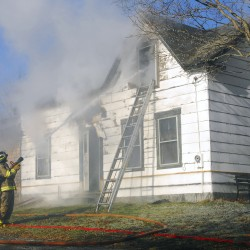 Stubborn fire destroys Plymouth man's home