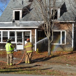 Family safe as fire guts Stetson home