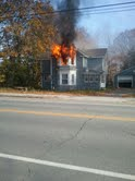 A fire of unknown cause resulted in heavy damage to a home at 614 Main St. in Old Town on Saturday, Oct. 27, 2012. The homeowner and her daughter were out when the fire was reported shortly before 11:30 a.m. This picture was taken just before the Old Town Fire Department arrived.