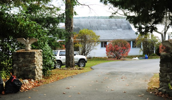 The house at 10 Heber Drive in Dedham where James Garland was taken into custody by Maine State Police after a six-hour standoff on Sunday, Nov. 4, 2012.