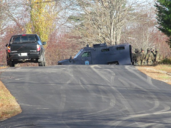 The Maine State Police Tactical Team went to a standoff at 204 Upper East Pond Road in Nobleboro that lasted for several hours Friday morning, November 2, 2012.
