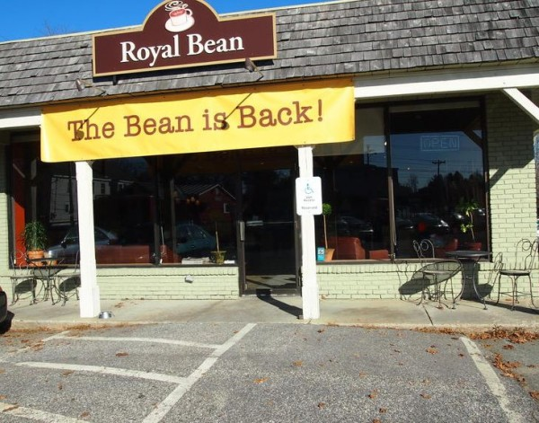 The Royal Bean coffee shop on Main Street in Yarmouth reopened Monday, Nov. 19, 2012, after almost closing its doors for good. A group of 17 residents and patrons bought the coffee house and hope to extend its community focus with local art shows and performances.