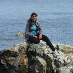 Pakistani teenager Aqsa Munir, exchange student for the 2012-13 school year, enjoyed Columbus Day weekend on the Maine coast.