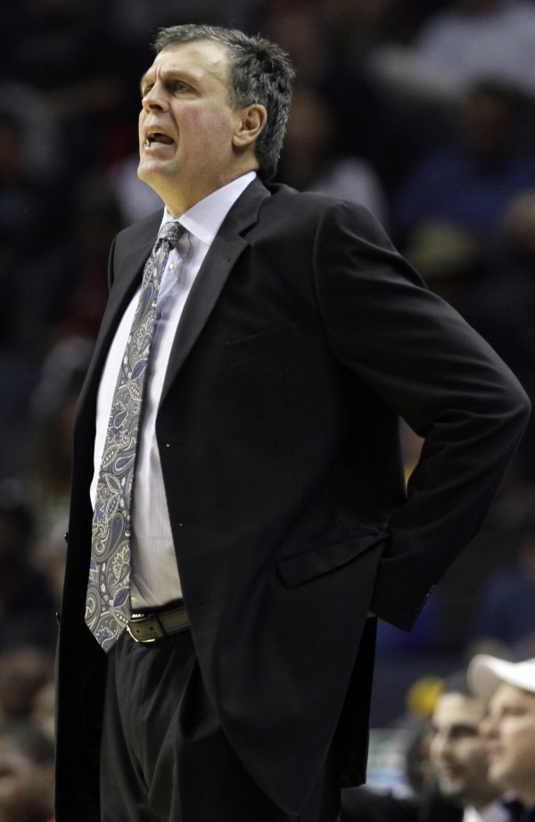 Houston Rockets coach Kevin McHale shouts during the first half of an NBA basketball game against the Memphis Grizzlies in Memphis, Tenn., Friday, Nov. 9, 2012.