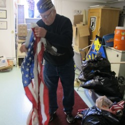 Brewer American Legion hosts flag retirement