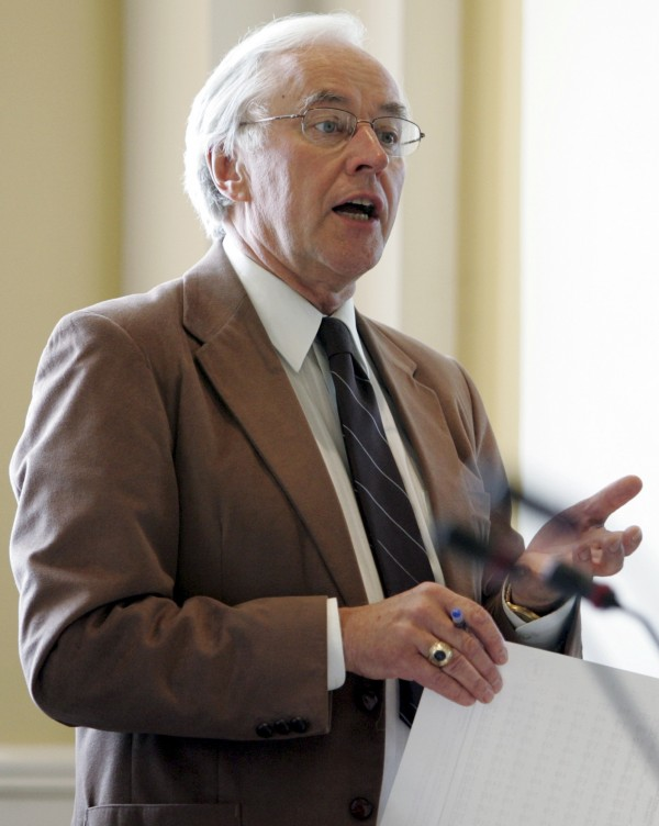 Sen. John Martin, D-Eagle Lake, speaks during a debate on bond issues during a special session at the State House in Augusta in July, 2005.  After 46 years in the Maine Legislature, Martin for the first time was defeated in the Tuesday, Nov. 6, 2012 election.