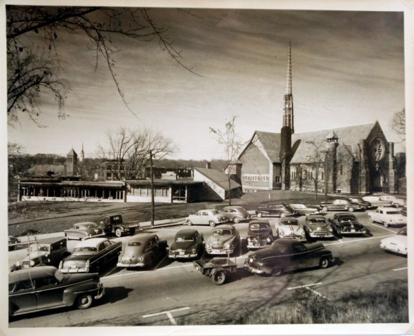 All Souls Congregational Church in Bangor is shown in the 1950s.