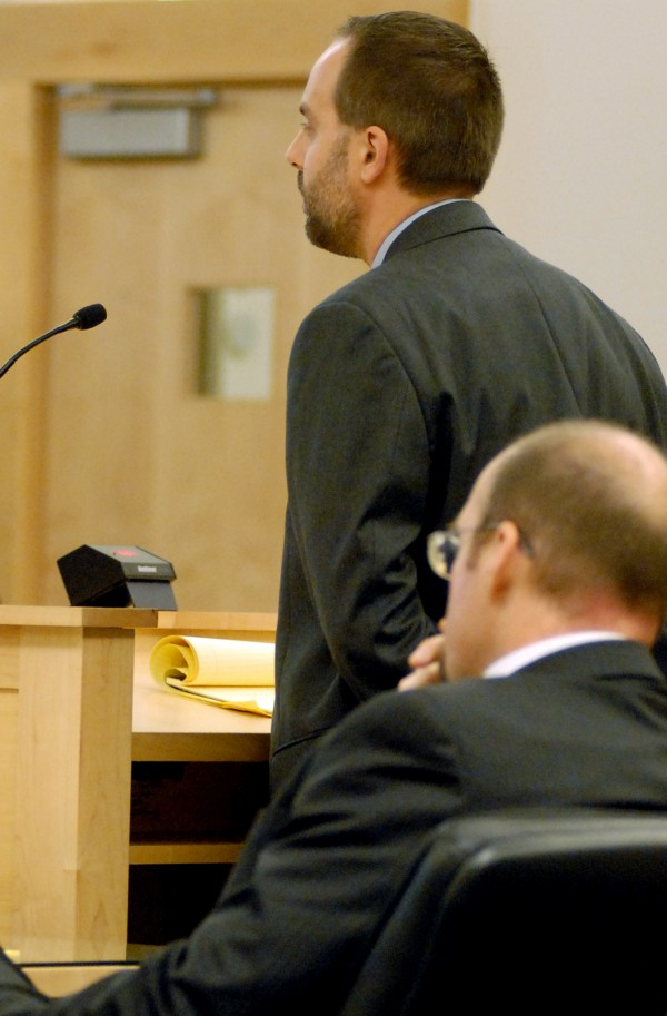 Defense Attorney Hunter Tzovarras presents arguments to the Maine Supreme Judicial Court on Nov. 8, 2012, in the appeal of Zachary Carr, who was convicted of murder in the death of Bobby Surles.