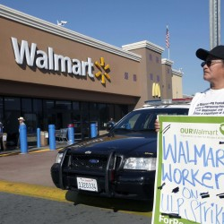 Activists demonstrate for 'living wage' outside Maine Walmarts on Black Friday