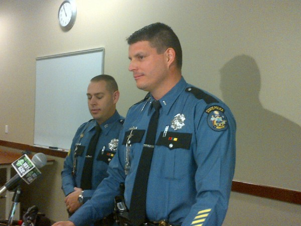 Maine State Police Lt. Chris Coleman talks about the deaths of three people in Alton on Tuesday, Nov. 20, 2012.