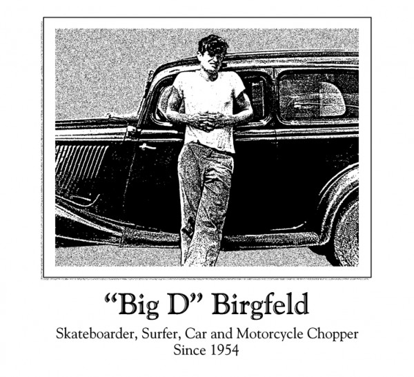 Doug Birgfeld in his hotrod days, sometime in the 1950s.