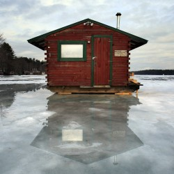 Orland angler drives his ice shack to contest glory