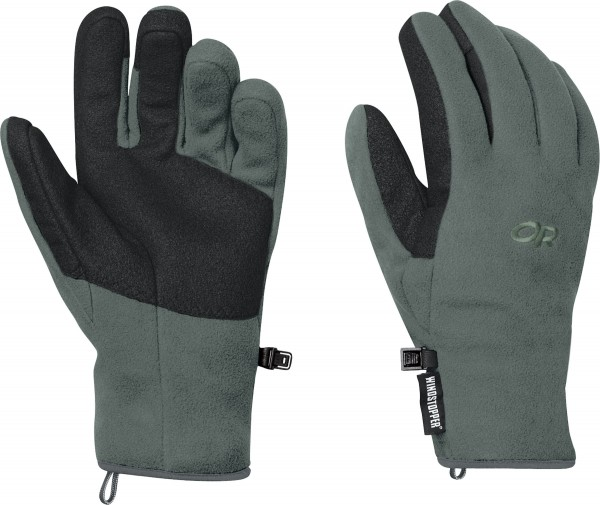 Outdoor Research Men's Gripper Gloves are made from 100 percent polyester laminated fleece, which is self-wicking, breathable and quick-drying in moderate moisture levels. The Men's Gripper Gloves are available in three colors: black, brown with black accent and gray/green with black accent. The gloves are $50 and can be purchased at www.outdoorresearch.com.