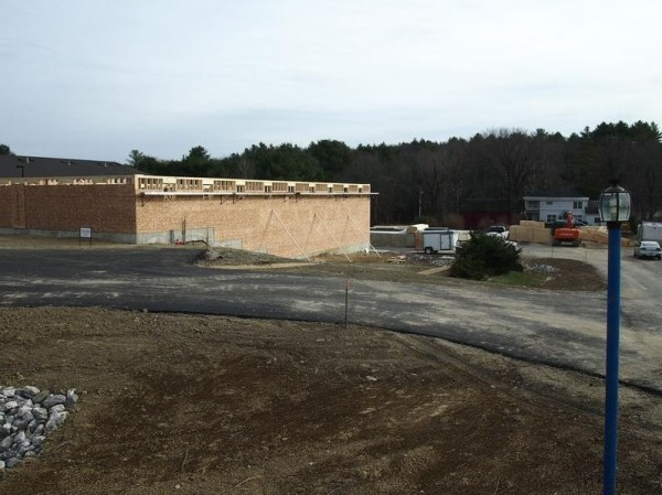 The foundation and walls are up at the new Maine Beer Co. brewery on Route 1 in Freeport, as shown in this picture published by The Forecaster on Nov. 28, 2012.