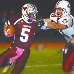 New Foxcroft football player catching on quickly, sets league record